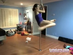 WEBCAM: Sybian Poledancing Practice