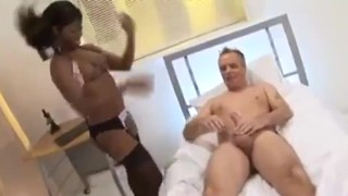 Jasmine Webb visits the white doctor ebony lingerie black big tits blowjob riding british cumshot interracial english fake tits trimmed rubbing doggystyle