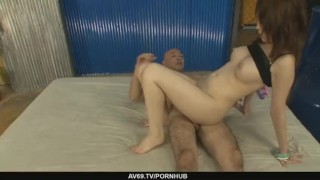 Petite Sayaka Tsuzi gets her hairy pussy toyed dildo milf asian oriental mom riding dp sex-toys mother japanese threesome big-tits av69 cowgirl double-penetration busty