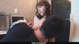 Big Titted Babe Emiri Mizusawa´s Hairy Twat Drilled  toys milf asian oriental mom riding hairy-pussy mother vibrator japanese big-tits av69 brunette cowgirl finngering busty
