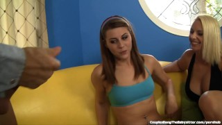 Preview 5 of Sweet Babysitter Seduced By Swinger Couple