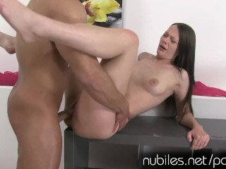 Creampie coed wants your cum in her pussy