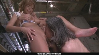 Busty MILF Sumire Matsu Slammed In A Threesome mother japanese milf hardcore asian oriental mom