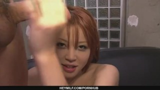 Filthy redhead Asian babe showing off her sexy ass and big tits  japanese milf hardcore mother asian oriental mom