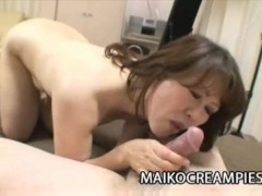 Hitomi Hirano - Japanese Granny Wrinkled Pussy Creampied