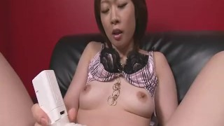 Rio Kagawa Fucks Herself With A Big Vibrator sex-toy dildo toys milf masturbation heels asian oriental mom solo heymilf mother natural-tits japanese brunette adult toys
