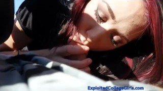 Super Hot Teen BJ & Fuck in Car
