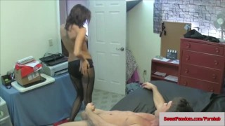 Hot Chicks Fuck a Guy with Strapons FEMDOM PEGGING PANTYHOSE TIGHTS ass play pussy eating pegging femdom pantyhose kinky strapon babe big boobs glasses sweetfemdom.com leotard ass fucking girls fuck guys busty toy