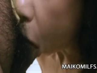 Junko Sakashita - Japanese Granny Tasting A Young Cock