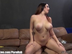 NATURAL TITS BOUNCING! Noelle Easton goes up and down on his cock!