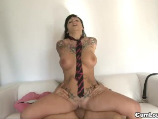 Busty Jenny Hard playing with a cock because she wants all your milk