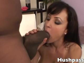 Lisa Ann has her pussy split wide open by Shorty Mac's coke can of a dick!