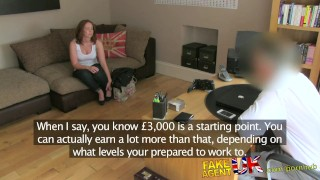 FakeAgentUK Attractive redhead gets surprise creampie in fake casting  homemade british dick-riding audition amateur blowjob cumshot red-head casting hardcore office reality bubble-butt interview doggystyle fakeagentuk