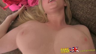 fakeagentuk scottish point-of-view casting amateur british hardcore interview office homemade audition busty bubble-butt clit rubbing reverse-cowgirl creampie