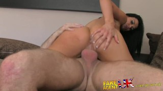 FakeAgentUK Tanned athletic goddess with beautiful tits gets creampied  point of view big tits homemade british creampie fakeagentuk audition blowjob casting busty hardcore office interview doggystyle fake tits shaved pussy