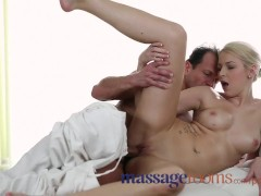 Massage Rooms Sexy young blonde girls have their tight pussies stretched