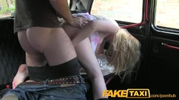 FakeTaxi Hairy ginger pussy struggles with big cock