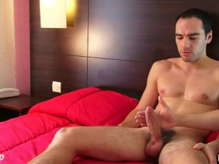 This straight fireman get wanked his huge cock by a guy in spite of him !