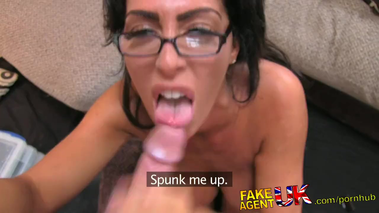 FakeAgentUK Tall secretary chick with incredible tits proves too much for