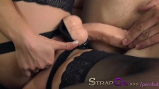 StrapOn Sexy babes fucking thier men in the ass with strapon cocks  female orgasms sex-toy pegging natural strapon oral-sex dildo female-friendly strap-on ass-fuck orgasms pegging-his-ass pussy babes romantic