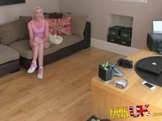 Fakeagentuk creampie casting for blonde british chick