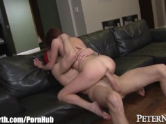 PeterNorth Tight Brunette Gets Facialed