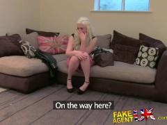 FakeAgentUK Agents thick cock drives cute blonde amateur wild
