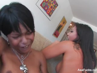 Asa Akira's Hot Girl on Girl With Marie Luv