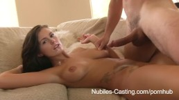 Nubiles Casting - Will jizz on her face and tits earn her the job?