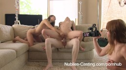 NubileFilms Cum swapping threesome