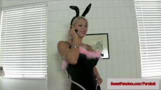 Sweet Fem Dom Bunny Costume Compilation COSPLAY PLAYBOY BUNNY  strap on sweetfemdom.com big tits ass fucking ass cosplay nylon blowjob kinky babes heels deepthroat anal bunny costume bct