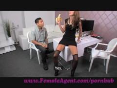 FemaleAgent. Asian casting fucks female agent amazingly well