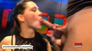 Preview 1 of Brunette babe danced sexy on the pole then she sucked and fucked