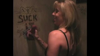 Fun at a Glory Hole about 10 years ago  big tits carol cox fellatio blowjob cumshot fetish orgasm cum on tits glory hole cock suck blow job glory hole cum glory hole fuck