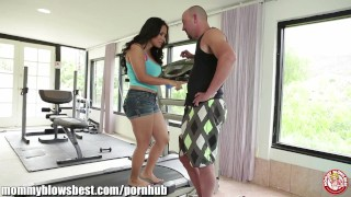 Hot mom Jessica Bangkok is blowing her young trainer!  tit fuck big tits blow job ass asian cumshot cum in mouth milf bubble butt mommyblowsbest.com babe mother wife big dick facial sloppy