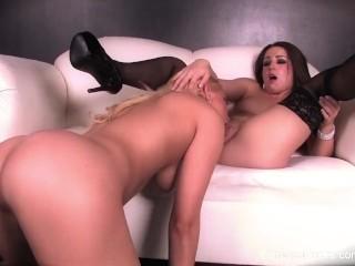 Lola Foxx and Vanessa Cage Fuck