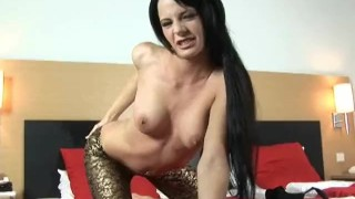 Preview 6 of Hungaria beauty Aliz fills her pussy with a huge dildo