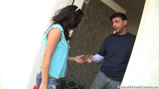 Preview 1 of Latina Teen Seduces Older White Guy