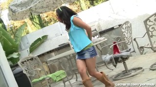 Preview 2 of Latina Teen Seduces Older White Guy
