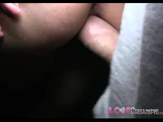 Love Creampie Outdoor sex for busty amateur ends with pussy filled with cum