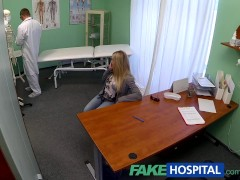 FakeHospital Dizzy young blonde takes a creampie in her wet pussy