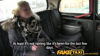 Preview 1 of FakeTaxi Young blonde takes on old cock