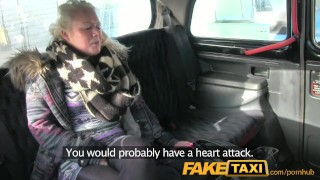 Preview 2 of FakeTaxi Young blonde takes on old cock