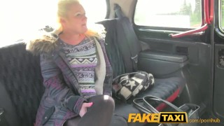 Preview 3 of FakeTaxi Young blonde takes on old cock
