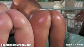 Preview 3 of Brazzers - Three perfect oiled up asses
