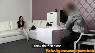 FakeAgent Pale young student takes Creampie in casting  office student interview point of view fakeagent homemade creampie cumshot pov casting
