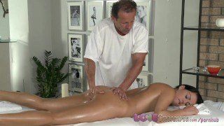 Preview 5 of Love Creampie Young beauty gets oil massage and cum in her tight young hole