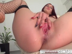 All Internal cum inside pussy creampie for tall chick