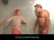 Teen horny maid fucks an old hotel customer