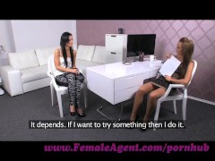 FemaleAgent. Underwear model discovers a passion for pussy